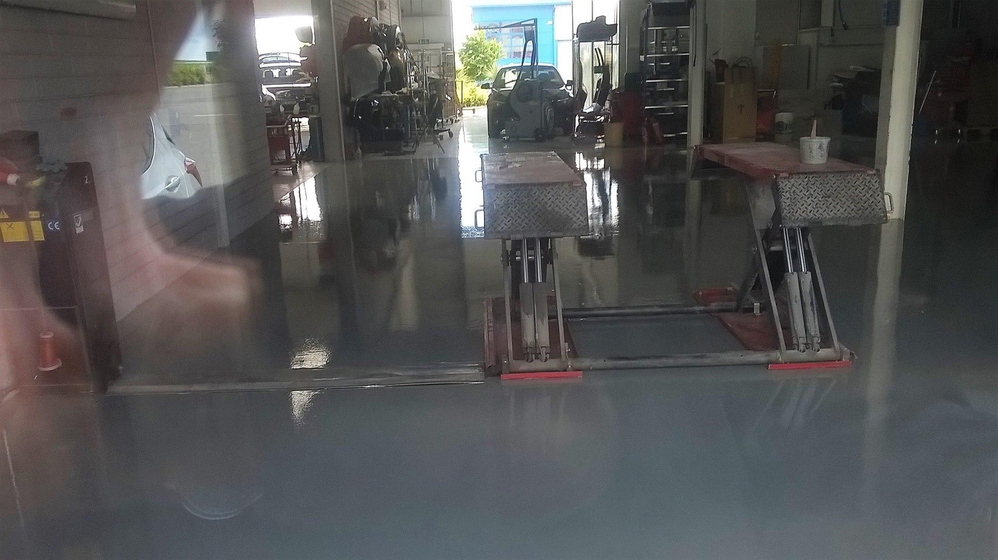 Epoxy floor for Garage in Clonmel - after