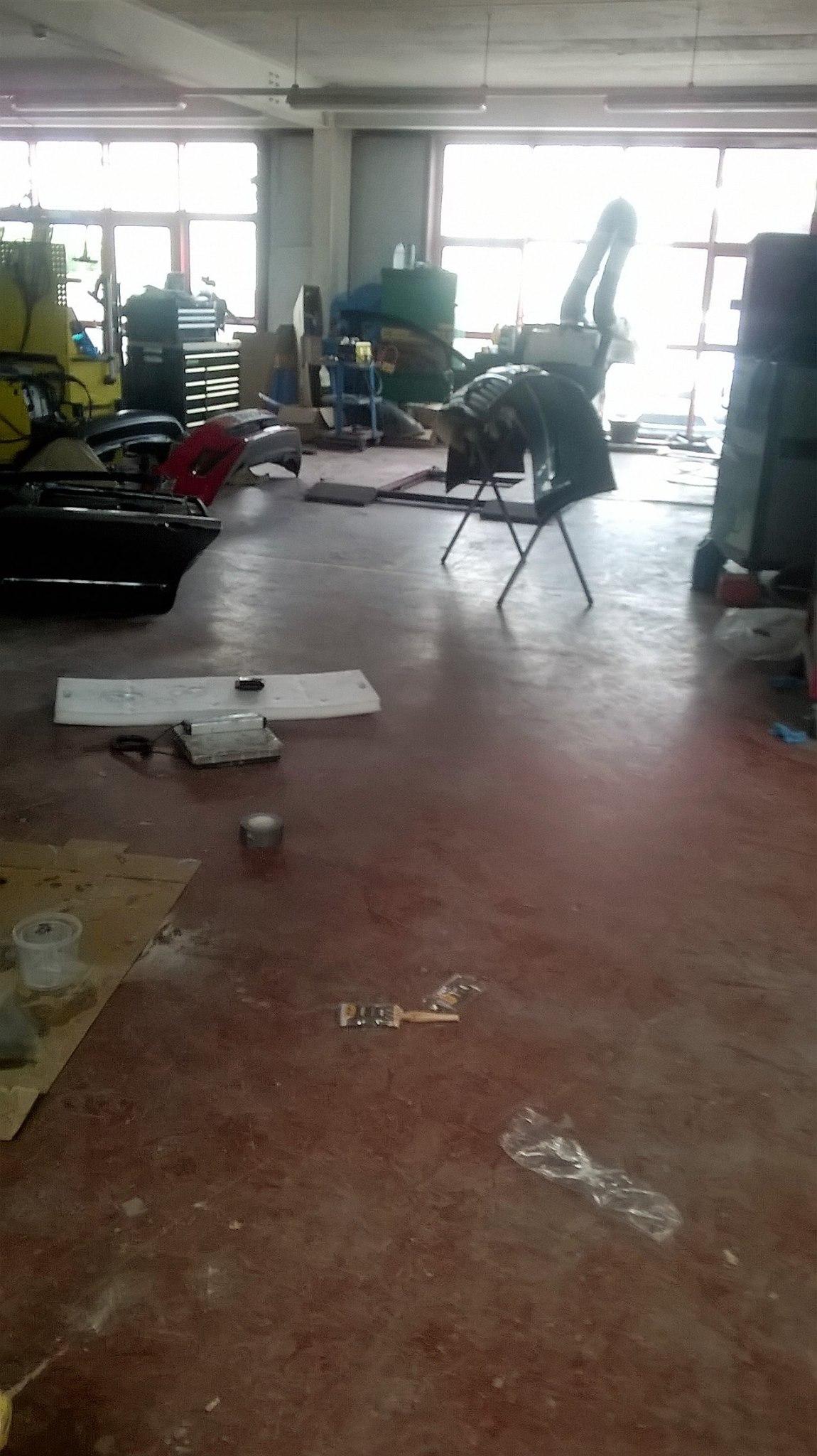 Epoxy floor for Garage in Clonmel - before