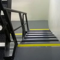 Anti-slip finishes on stairs