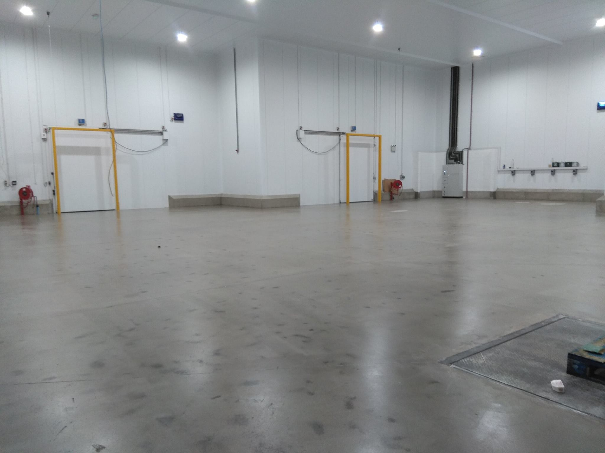 Floor sealed in a concrete sealer.
